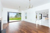 Bi-fold doors from the lounge